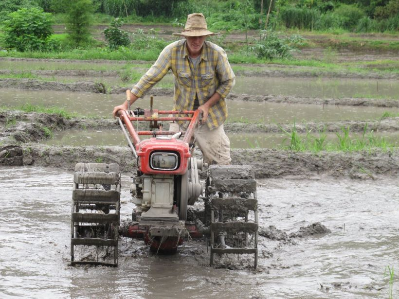 me learning to use the tractor