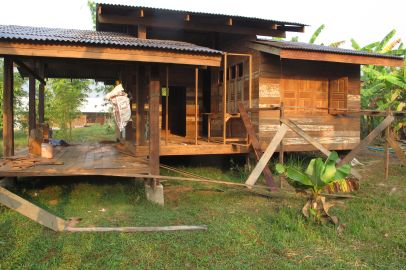 recycled wooden house